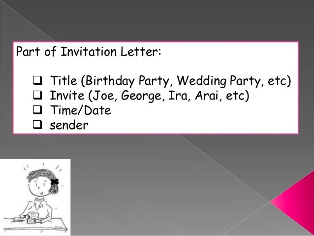 Parts Of Wedding Invitation: Invitation