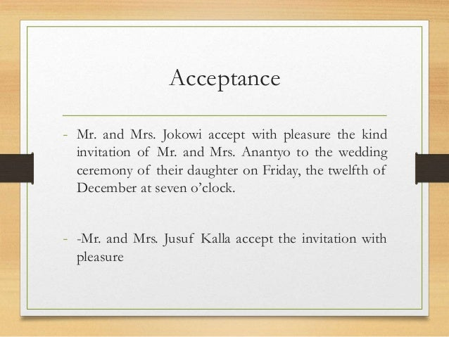 I accept with pleasure