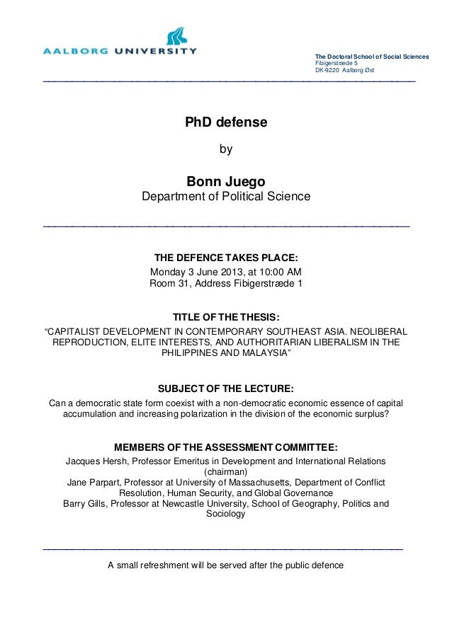 Master Thesis Defense Invitation Paper