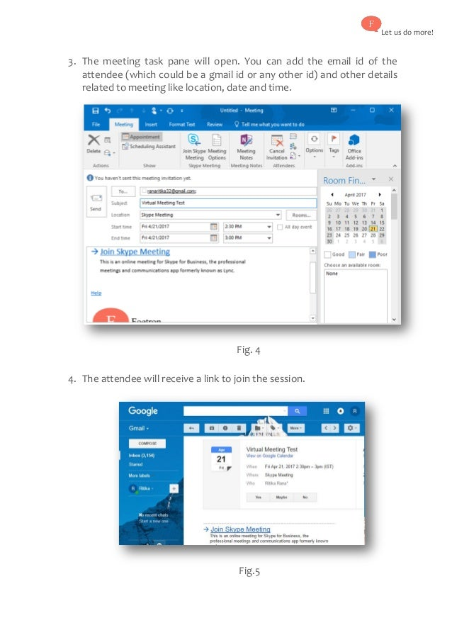 How to send out invitations for virtual Skype for Business Meeting