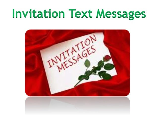 Invitation text messages sample copyright 2014 bestmessage invitation text messages stopboris Choice Image
