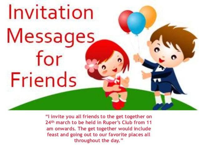 Birthday party invitation message to friends vatozozdevelopment birthday stopboris Gallery