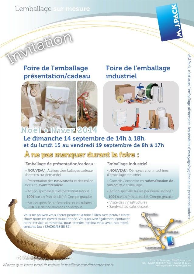 Invitation foire de l'emballage industriel et de l'emballage cadeau