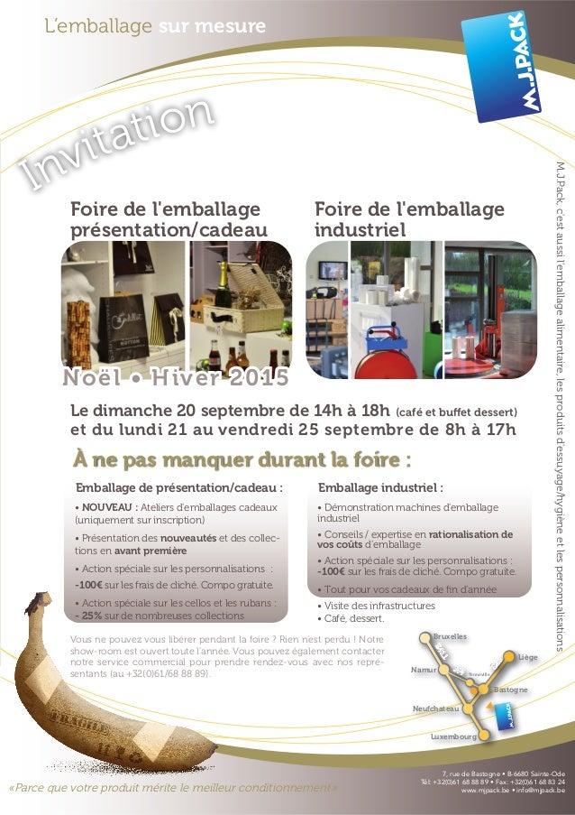 L'emballage sur mesure Invitation «Parce que votre produit mérite le meilleur conditionnement» Bruxelles E25 N4 E411 Neufc...