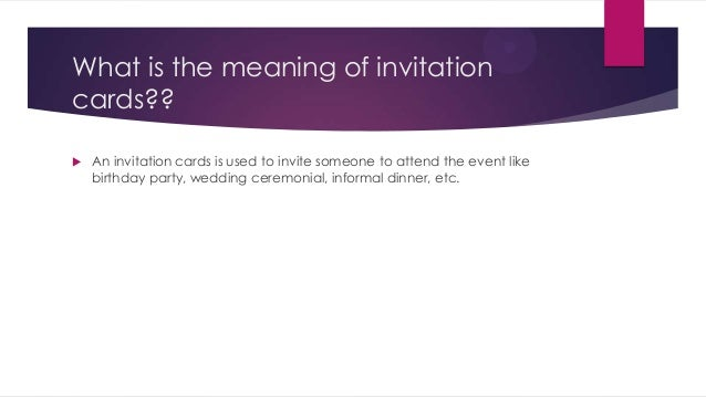 Invitation card Interactive English