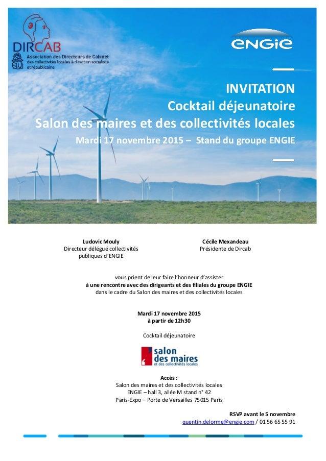 Invitation dircab engie - Salon des maires et des collectivites locales ...