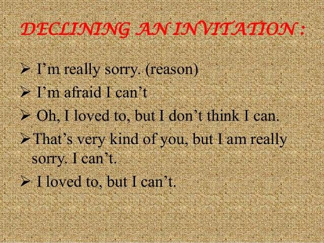 Invitation expression 7 declining an invitation stopboris Image collections