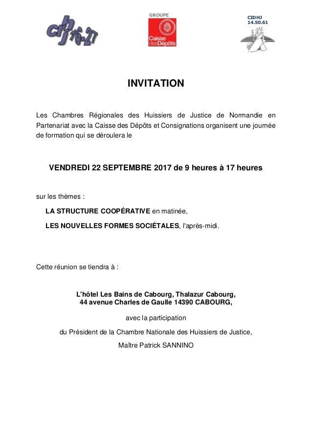 Invitation Formation HuissiersFormesSocietalesStructureCooperativ