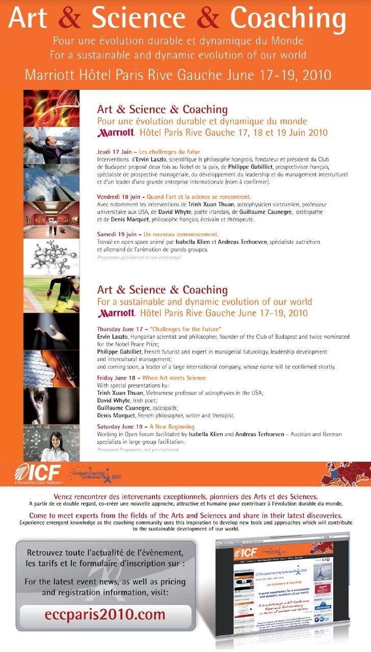 Invitation icf ECC Paris 2010 emailing