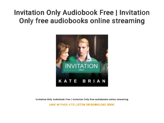 invitation only audiobook free invitation only free audiobooks onli