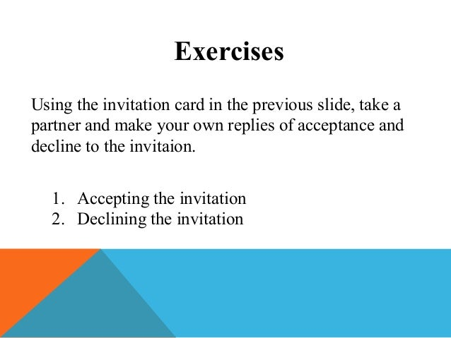 Invitations and Replies to Invitations