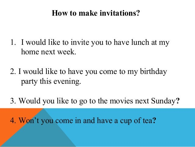 Invitations And Replies To Invitations - Email to friend for birthday invitation