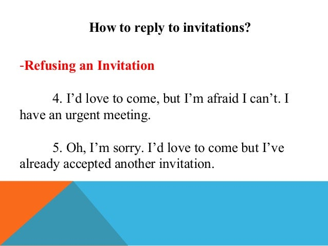 how to write a letter refusing an invitation