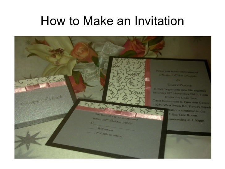 How to Make an Invitation