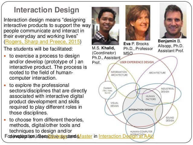 "Interaction Design Interaction design means ""designing interactive products to support the way people communicate and inte..."