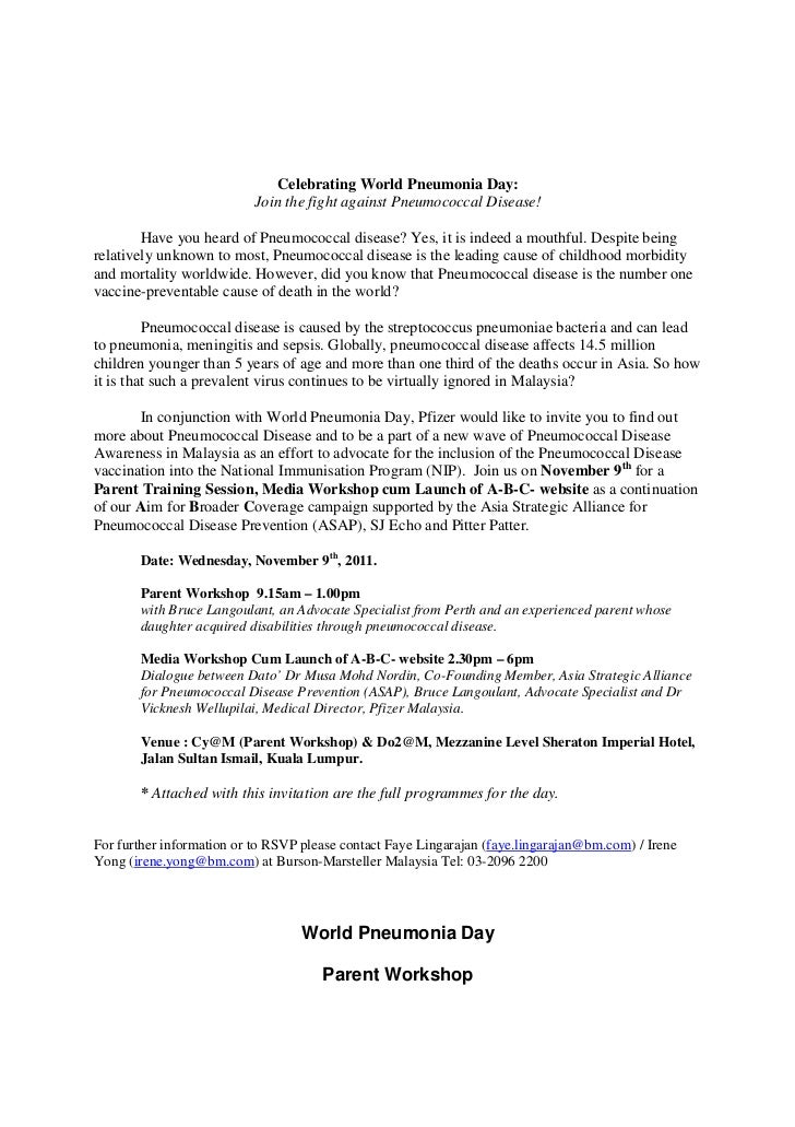 Celebrating World Pneumonia Day:                           Join the fight against Pneumococcal Disease!        Have you he...
