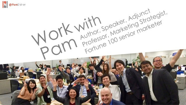 KEYNOTES &WORKSHOPS Unexpected Fun. Thoughtful. With A Hint of Humor Pam has the amazing ability to synthesize, connect wi...
