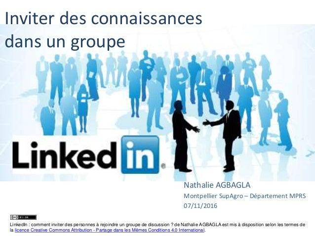 inviter des connaissances dans un groupe sur linkedin