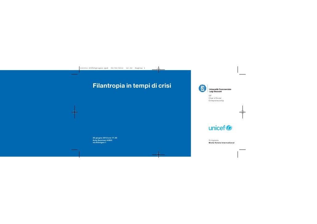 invito-SIF25giugno.qxd    06/06/2012   16.02   Pagina 1         Filantropia in tempi di crisi                             ...