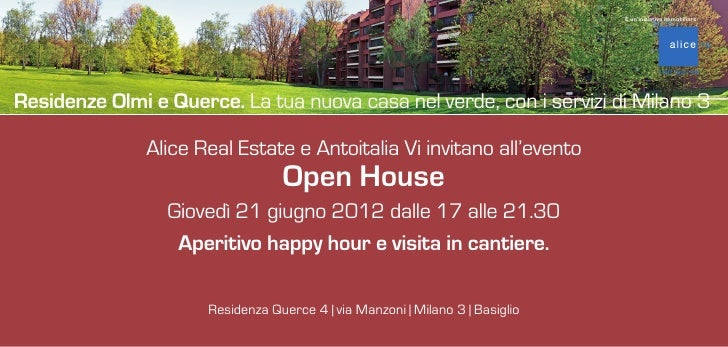 È un'iniziativa immobiliare:Residenze Olmi e Querce. La tua nuova casa nel verde, con i servizi di Milano 3               ...