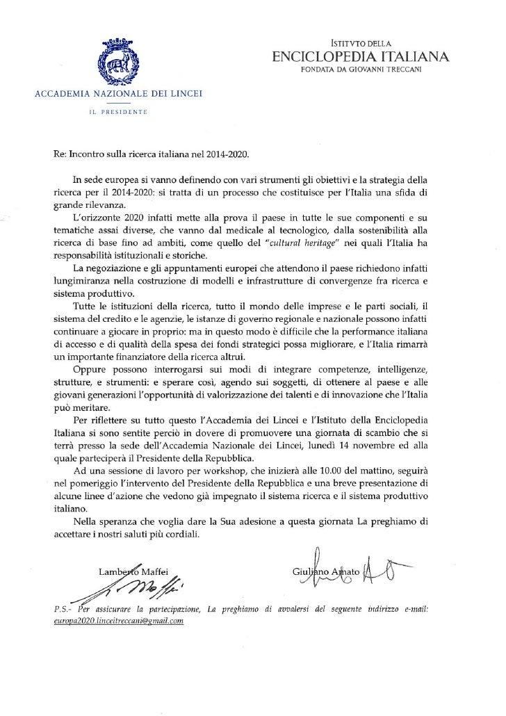 Incontro ricerca italiana 2014-2020