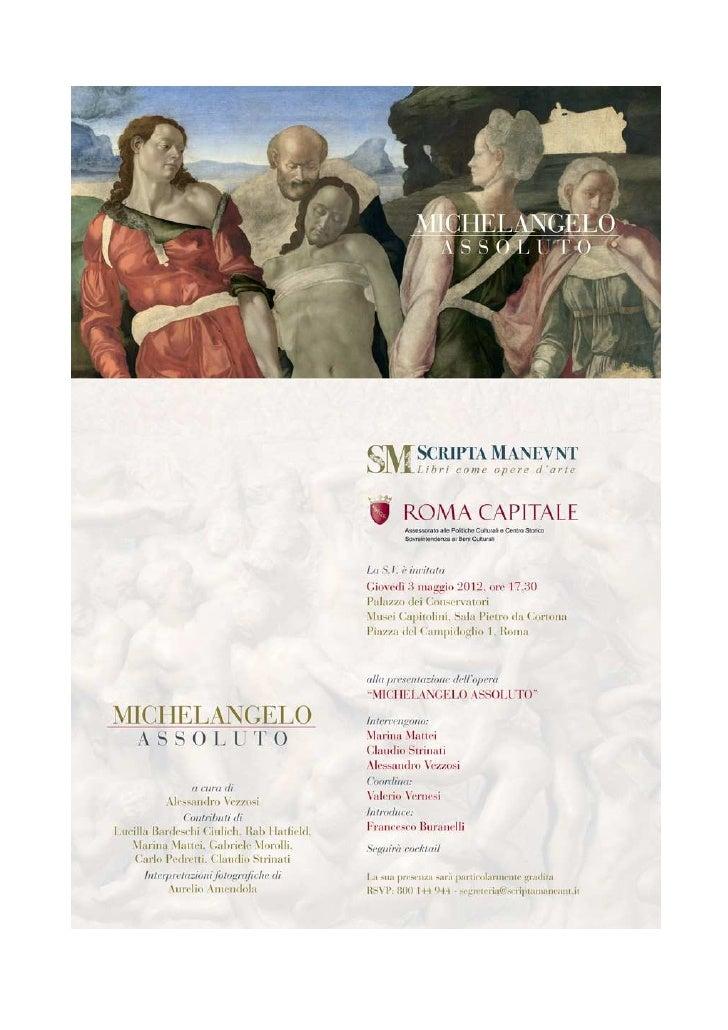 Invito michelangelo roma 3 maggio 2012