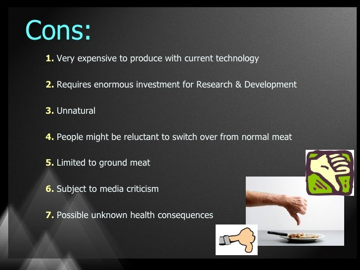 in vitro meat pros and cons