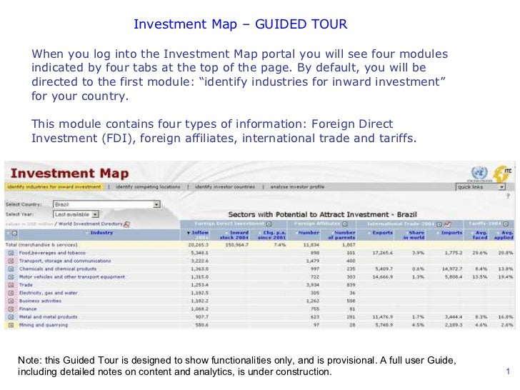 When you log into the Investment Map portal you will see four modules indicated by four tabs at the top of the page. By de...