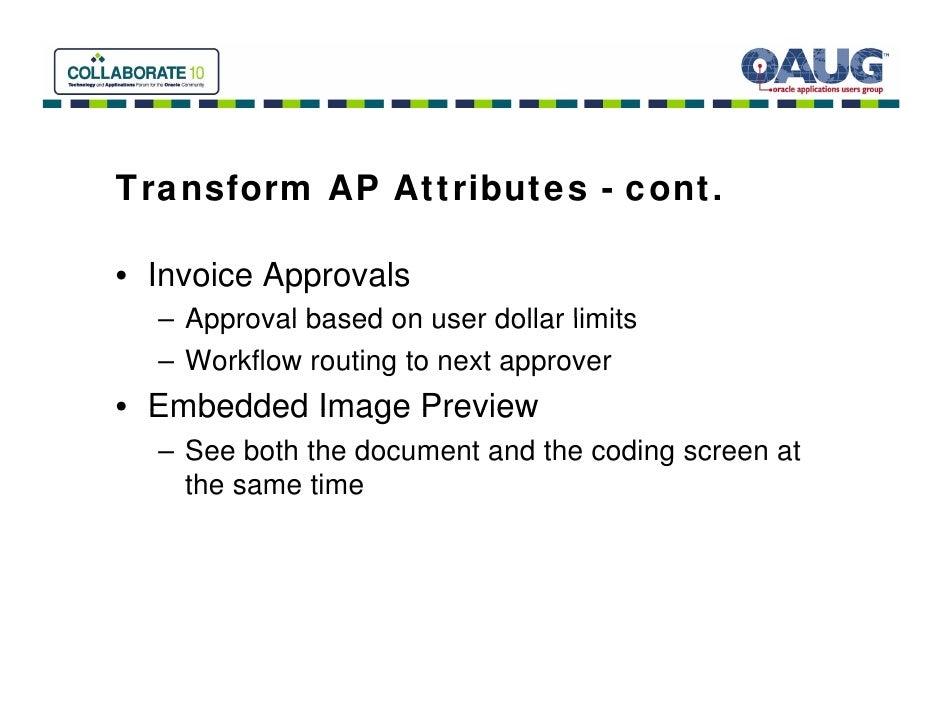 Invoice And Payment Automation For Oracle EBS Bottomline And Buzzi A - Oracle r12 ap invoice approval workflow