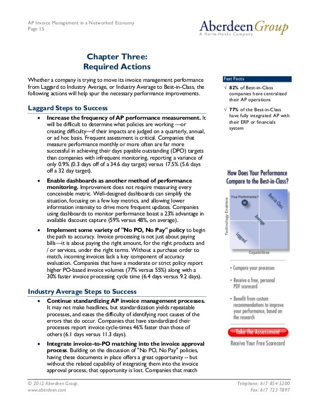 AP Invoice Management in a Networked EconomyPage 15                          Chapter Three:                         Requir...