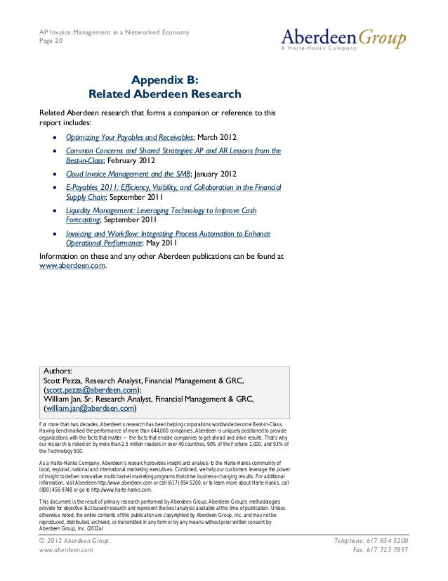 AP Invoice Management in a Networked EconomyPage 20                              Appendix B:                       Related...