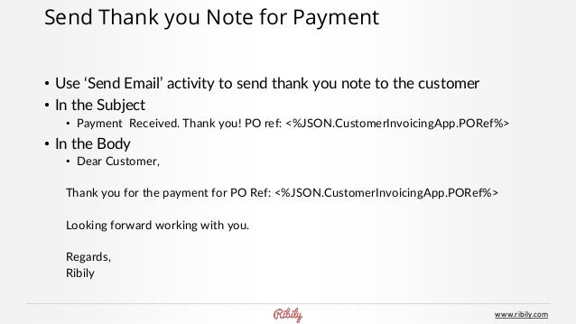 Invoicing App On Ribily - Send invoice for payment
