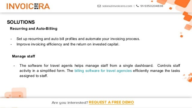 travel agency invoice software