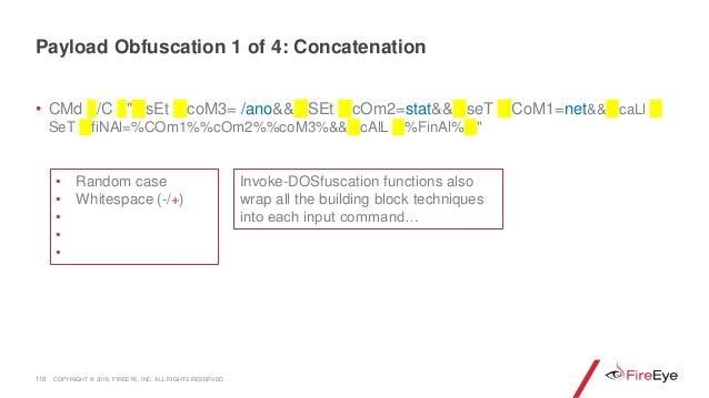 """• CMd /C """" sEt coM3= /ano&& SEt cOm2=stat&& seT CoM1=net&& caLl SeT fiNAl=%COm1%%cOm2%%coM3%&& cAlL %FinAl% """" 110 Invoke-D..."""
