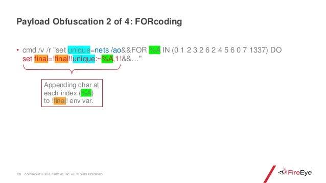 """163 • cmd /v /r """"set unique=nets /ao&&FOR %A IN (0 1 2 3 2 6 2 4 5 6 0 7 1337) DO set final=!final!!unique:~%A,1!&&…"""" Appe..."""