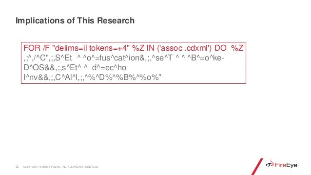 """32 Implications of This Research FOR /F """"delims=il tokens=+4"""" %Z IN ('assoc .cdxml') DO %Z ,;^,/^C"""",;,S^Et ^ ^o^=fus^cat^i..."""