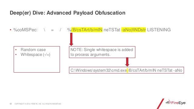 • %coMSPec:  = / %/B/csTArt/b/mIN neTSTat -aNo|fiNDstr LISTENING 68 C:Windowssystem32cmd.exe /B/csTArt/b/mIN neTSTat -aNo ...