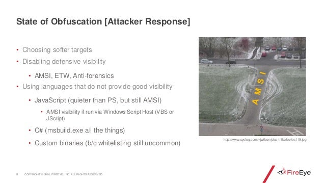 • Choosing softer targets • Disabling defensive visibility • AMSI, ETW, Anti-forensics • Using languages that do not provi...