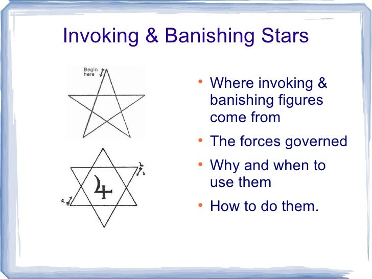 Invoking & Banishing Stars                                Where invoking &                  banishing figures            ...