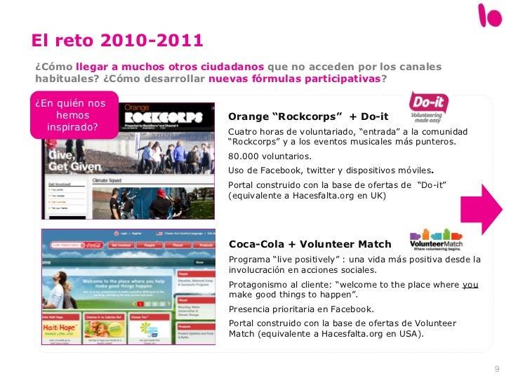 """El reto 2010-2011 Orange """"Rockcorps""""  + Do-it Cuatro horas de voluntariado, """"entrada"""" a la comunidad """"Rockcorps"""" y a los e..."""