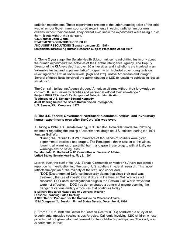 Involuntary Human Experimentation in the US Slide 2