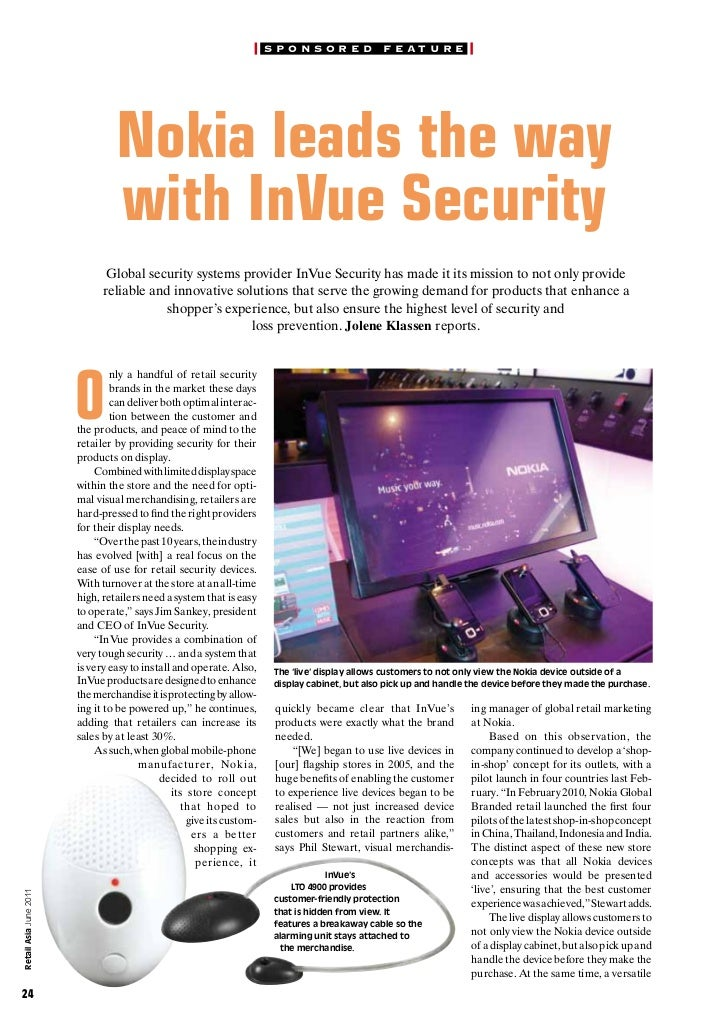 Nokia leads the way with InVue Security