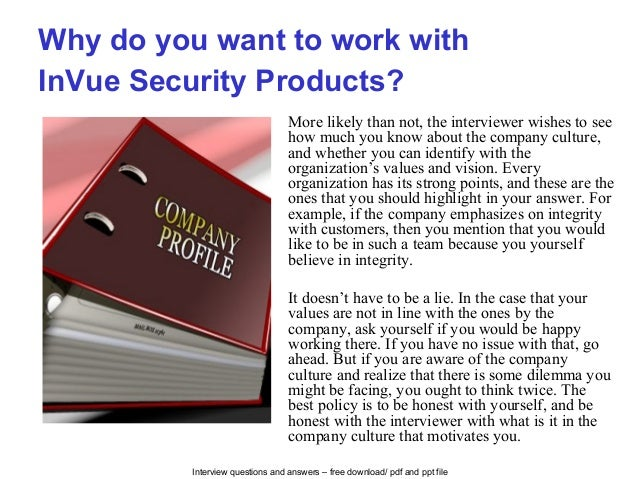 In vue security products interview questions and answers