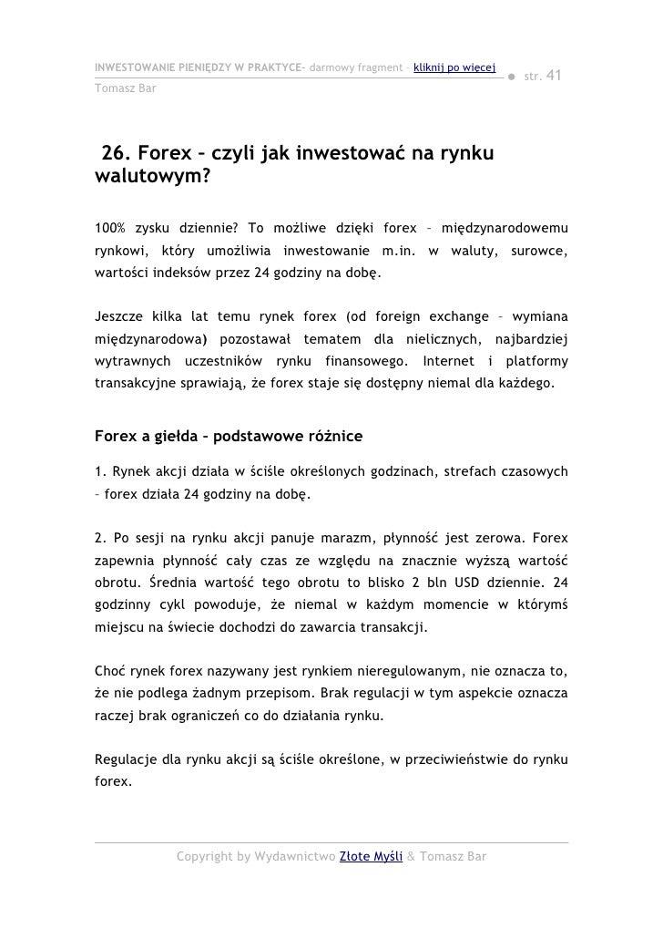 Inwestowanie forex