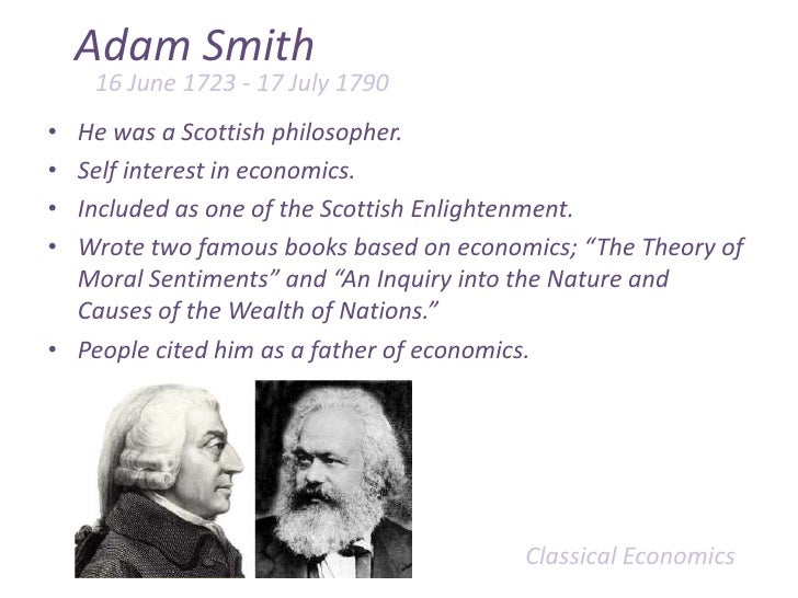 In what way does adam smith & david