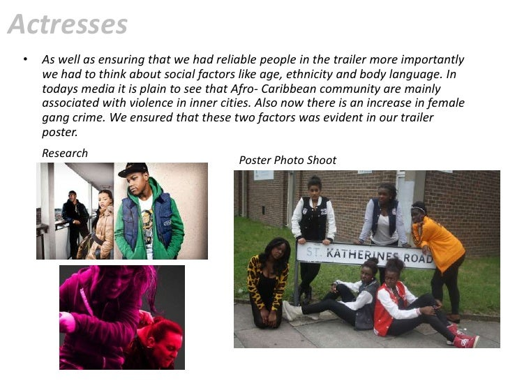 Actresses •   As well as ensuring that we had reliable people in the trailer more importantly     we had to think about so...