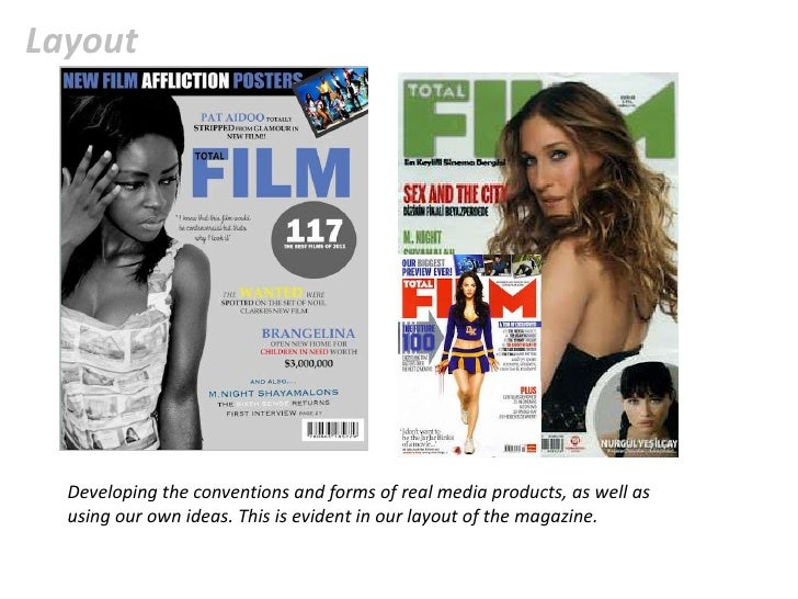 In what ways does your media product use mag (1) Slide 3