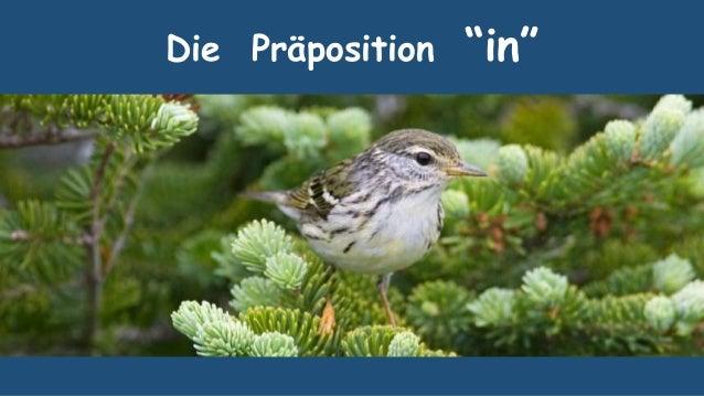 """Die Präposition """"in"""""""