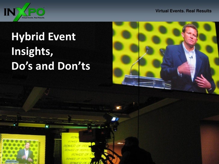 Virtual Events. Real Results     Hybrid Event Insights, Do's and Don'ts