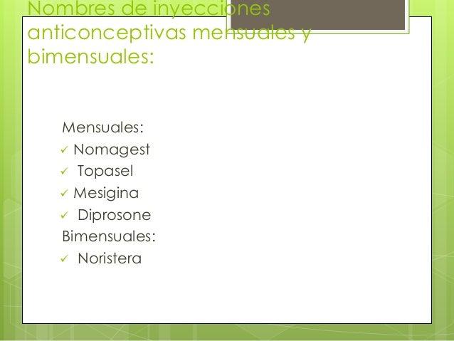 Inyeccíones Anticonceptivas